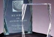 Executive Jade Acrylic Desk Award W: Corner Facet #DT-DT504