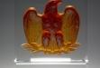Majestic Eagle Amber Pate De Verre #TM-E2887A