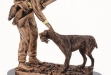 Hunter with Dog Resin Figurine - 8.5 #DT-RFS391B