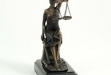 Seated Lady Justice Sculpture on Marble Base #BB-B104