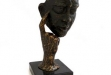 Thinking Man Sculpture In Bronze #BB-B170