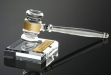 Acrylic Banded Gavel and Sound Block #AA-A-722