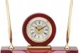 Clock w: Two Pens #DT-Q154
