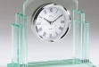 Glass Award w: Quartz Movement Clock #DT-Q404