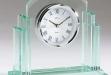 Glass Award w: Quartz Movement Clock #DT-Q404