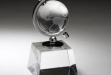 Crystal Spinning Globe on Clear Base #DT-CRY160