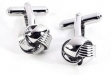 Rhodium Plated Cufflinks w: Knot