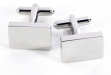 Rhodium Plated Rectangle Cufflinks