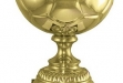 PLATED BRASS SOCCER ON BASE #DT-1143