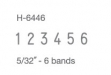 #H-6446 Numberer w: 6 Bands