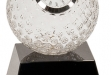 Crystal golf ball clock award