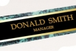 Green Marble Nameplate #DT-BKZ8