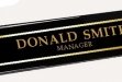 Piano-finished Ebony Nameplate #DT-RW8W