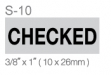 #S-10 Self-inking Stamp (3:8 x 1)