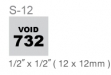 #S-12 Self-inking Stamp (1:2 x 1:2)